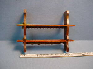Dollhouse Miniatures Double Wall Shelf wi pegs - #N018 - 1/12th Scale