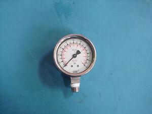 Wilka-316-SS-B19-Used-0-100-psi-Pressure-Gauges