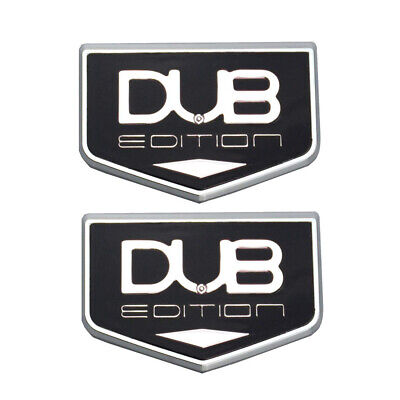 Black 2X Black 392 Emblem 3D Logo Badge Premium Car Decal Fender Tailgate Nameplate