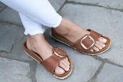 Birkenstock MADRID BIG BUCKLE Brown Free Delivery with