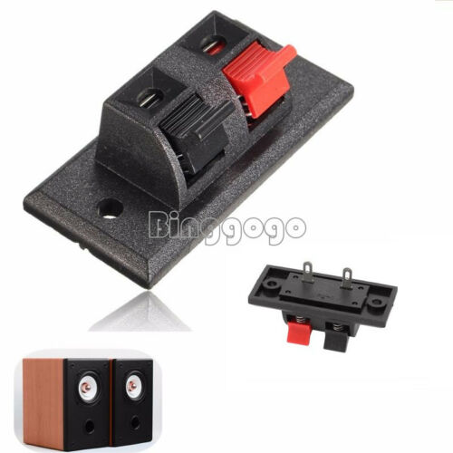 NEU 2P 4P Way Audio Speaker Terminal Double Spring Clip Jack Plug Socket Switch