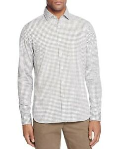 NEW-98-BLOOMINGDALES-MULTI-HEATHER-CHARCOAL-GRAY-GINGHAM-CHECKERED-DRESS-SHIRT