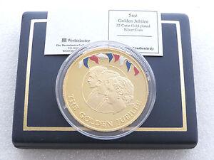 2002-de-Oro-Aniversario-Diez-Libra-PLata-Oro-Prueba-5oz-Moneda-Caja