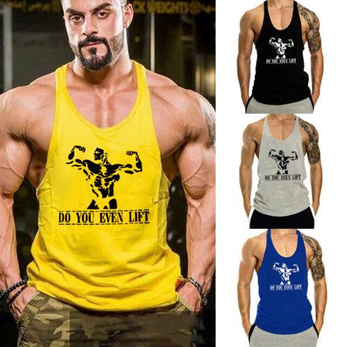 Muscle Fitness Men Vest Bodybuilding Singlet Stringer Gym Tank Sport Vest Tops G