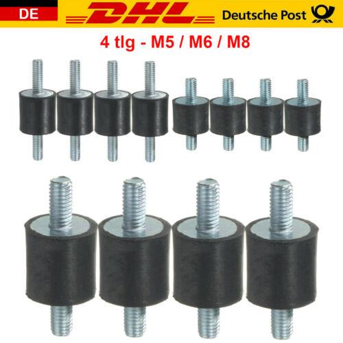 4X Gummipuffer M5 M6 M8 Schwingungsdämpfer Silentblock Gummi Metall Puffer Satz