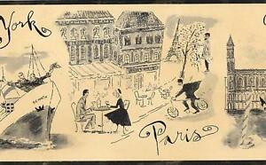 Wallpaper-Border-Paris-France-New-York-Venice-Italy-London-Bon-Voyage-Sepia-Tan