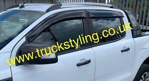 New-Ford-Ranger-T6-Wind-Deflectors-Rain-Guards-Fits-All-2011-2020-models-4pcs