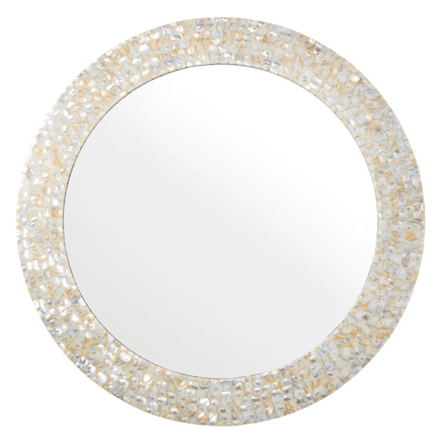Endon Bexley round Mirror Mother of pearl Dia: 700mm Proj: 20mm