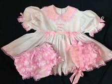 Adult Baby Sissy Littles 3 pc Naughty Locking Peek a Boo Dress Set
