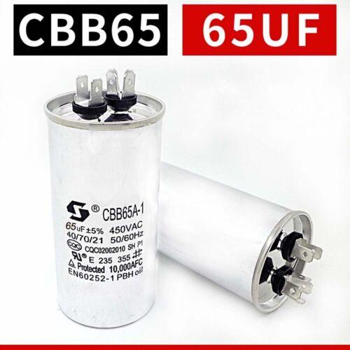 5uF 100uF CBB65 Air Conditioning Compressor Start Run Capacitors 50//60Hz 450VAC