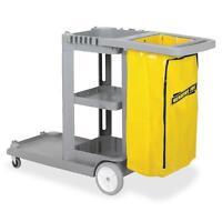 Genuine Joe Janitors Cart 20-1/2wx40lx38h Lt Gray/yellow 02342 on Sale