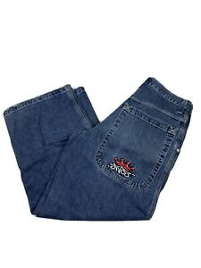 Jnco-Tribal-Men-039-s-Jeans-33-X-30-Large-Pockets-Skater-Punk-Goth-Vintage-A2221