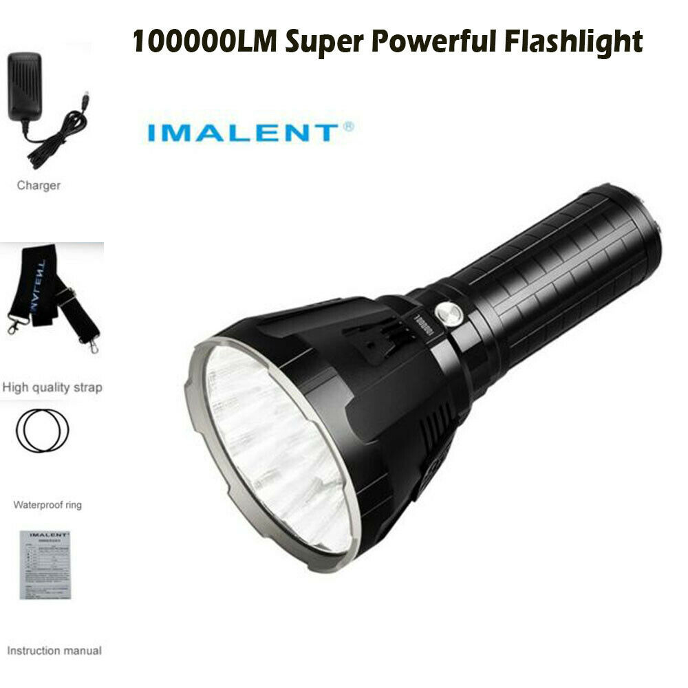 IMALENT MS18 Electrical Torch 100000 LM LED Chargeable Flashlight all'aperto light