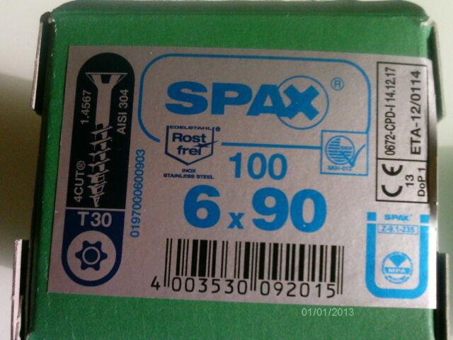 Orginal SPAX ® Edelstahl Torx Antrieb VA Spanplattenschrauben 4,5 5 6mm V2A