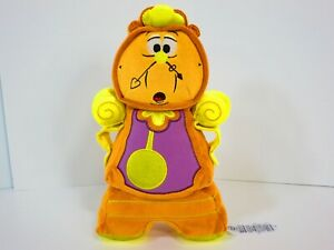 Disney-Beauty-And-The-Beast-Cogsworth-11-034-Plush-Clock-Doll-Disney-Store-Stamp