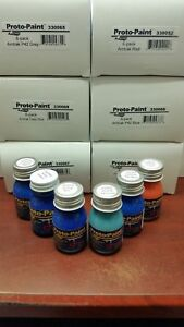 Rapido-Proto-Paint-six-pack-of-Amtrak-Colors-Blues-Grey-and-Red-All-scales