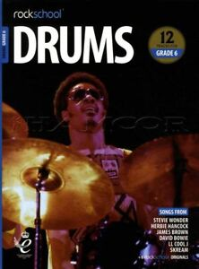 Rockschool-Drums-Grade-6-2018-2024-Sheet-Music-Book-Audio-Exercises-Tests-Songs