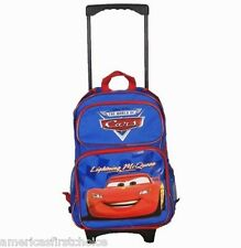 "DISNEY THE CARS MCQUEEN 16"" ROLLING DETACHABLE BACKPACK!DETACHABLE BACK PACK"