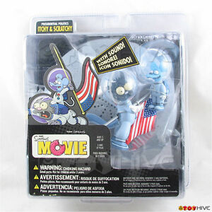 Simpsons Movie Presidential Politics Itchy And Scratchy Figures Mcfarlane Toys 787926127461 Ebay