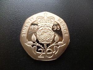 1993 20p coin