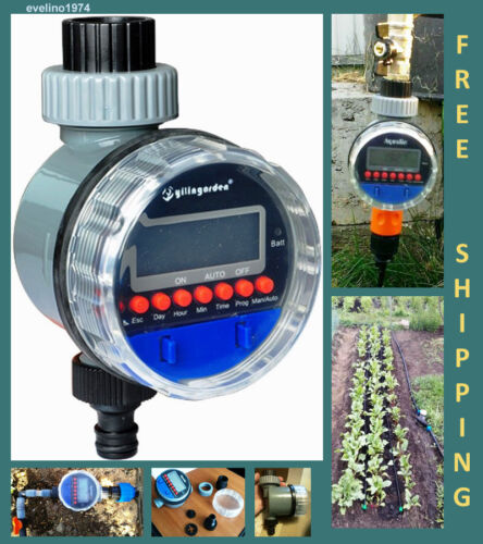 LCD Digital Garden Irrigation Controller New Ball Valve Electronic Water Timer