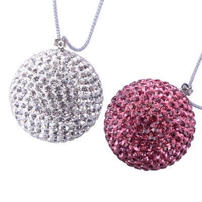 Disco Ball Rear View Mirror Pendant Crystal Charm Ornament Car Accessories Gifts