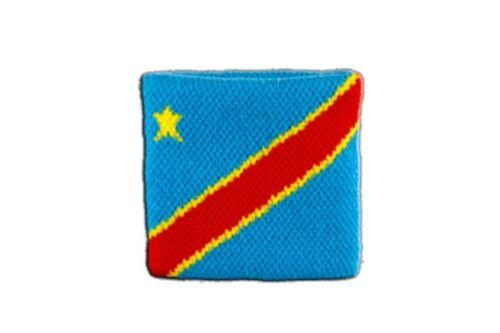Schweißband Fahne Flagge Demokratische Republik Kongo 7x8cm Armband für Sport