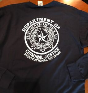 Details about (TDCJ) Texas Department Of Criminal Justice Long Sleeve  TShirt Large New