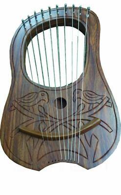 Harfe Komplette Artikelauswahl Rosenholz Tc Lyra Mundharmonika 2 Vögel Design 10 Saiten Hand Graviert