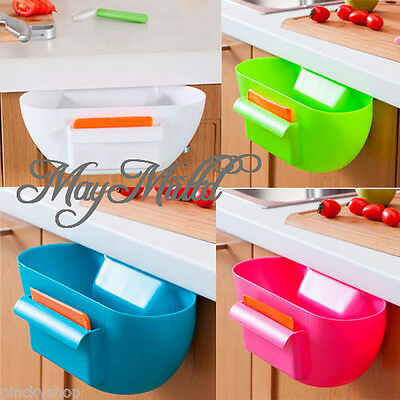 Home Kitchen Cabinet Door Mounted Garbage Trash Storage Rubbish Box Organizers