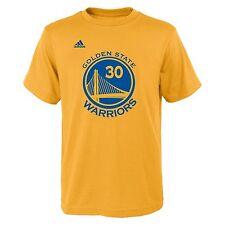 Golden State Warriors NBA Adidas Stephen Curry #30 Yellow Jersey T-Shirt S