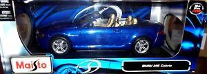 car-1-18-MAISTO-31145-BMW-M6-E64-CABRIOLET-2003-MET-BLUE-NEW-BOX