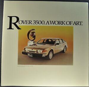 1980 Rover 3500 Large Catalog Brochure V8 Sedan SD1 Excellent Original 80