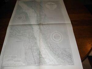 Antique Vintage Us Navy Nautical Chart Maritime Navigational Charts Port Of Liverpool,england Fancy Colours Antiques