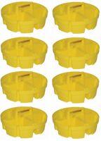 (8) Ea Bucket Boss 15051 4 Compartment 5 Gallon Bucket Stacker Storage Organizer