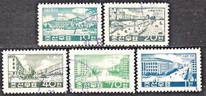 KOREA-1960-used-SC-220-24-set-Views-of-rebuit-Pyongyang