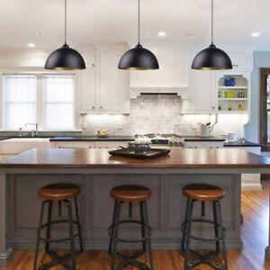 Details zu 10x Pendelleuchte schwarz-gold Design Hänge-Leuchte Decken-Lampe  Küche Esszimmer