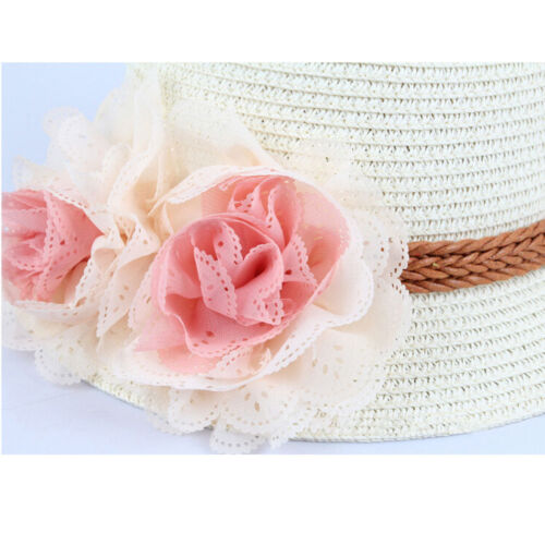 Toddlers Infants Baby Girls Summer hats Straw Sun Beach Hat for Cap 2-7Year BT