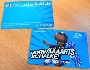 Knappenkarte-FC-Schalke-04-Vorwaeaeaeaerts-Erwin-Jubel-Huelle-Restguthaben