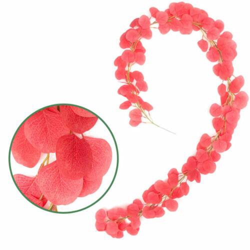 2m Artificial Eucalyptus Vine Garland Rattan Silk Flower Wedding Party Decors