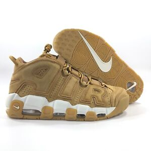 Nike-Air-More-Uptempo-039-96-PRM-Wheat-Flax-Brown-White-AA4060-200-Men-039-s-10-10-5