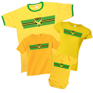 9aaa18b2a JAMAICA Patriotic Retro Strip T-Shirt  Choice Of MENS LADIES KIDS ...