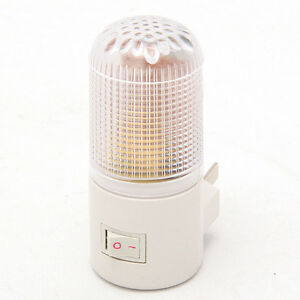 Wall Mounted Movable Lamp : 220V 4 LED Portable Wall Mounted Energy Saving Bedroom Night Light Plug Bulb New eBay