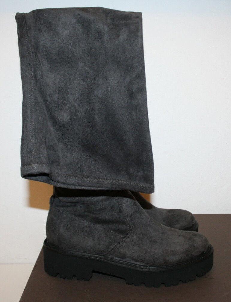 Kennel und und und Schmenger Overknee Stiefel hoch Anthrazit Gr.41 2cfc78