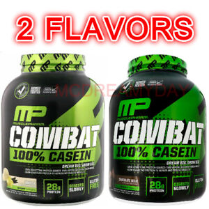 MusclePharm-Combat-100-Casein-Protein-Powder-Chocolate-Milk-Vanilla-4-lbs-New