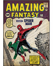 Spider-Man Poster Comic Book Cover Wall Decoration High Quality 16x20