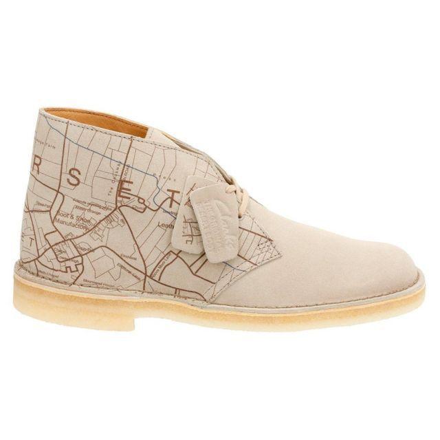Clarks Originals Men Desert Boots Sand Interest Map Limited Edition