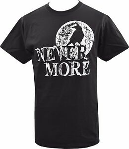 Spiral Crow Moon Men/'s Black Print Longsleeve T-shirt Gothic,Goth