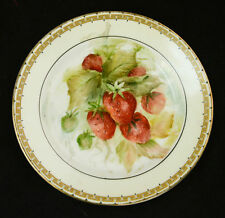 "Strawberry Patch Plate Henrich & Co Selb  Bavaria Mark China Porcelain HB 6"" ANT"