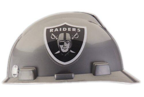 Lightweight Safety Works Hard Hat Oakland Raiders w// Adjustable Nape Strap
